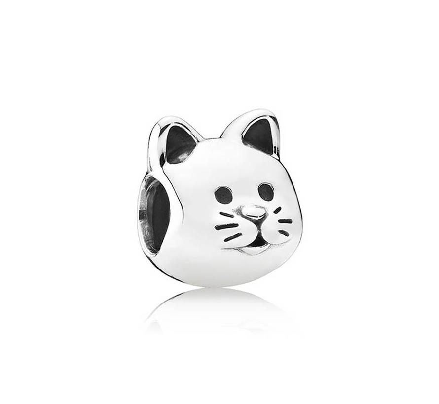 Cat silver charm 791706