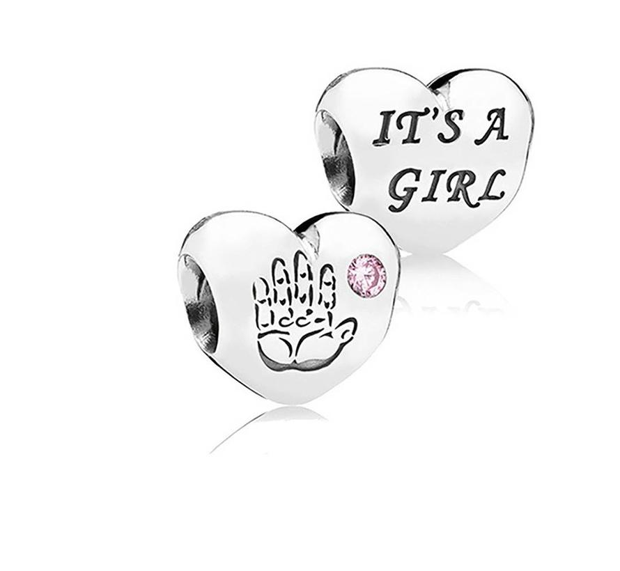 Baby girl with pink cubic zirconia 791280PCZ