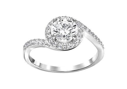 Swarovski Attract Light Ring Swirl silver 5221411 size 60