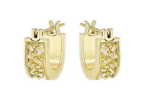 Swarovski Crystaldust Hoop Pierced Earrings Small 5273880