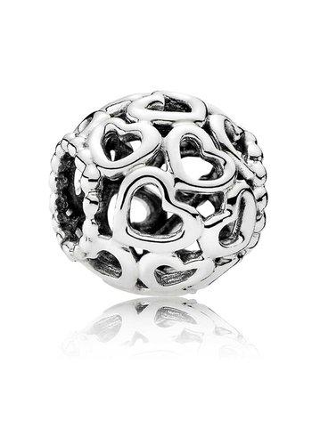 Pandora Openwork hearts silver charm 790964