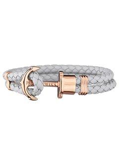 Paul Hewitt Leather Bracelet Rose gold Gray PH-PH-L-R-GR