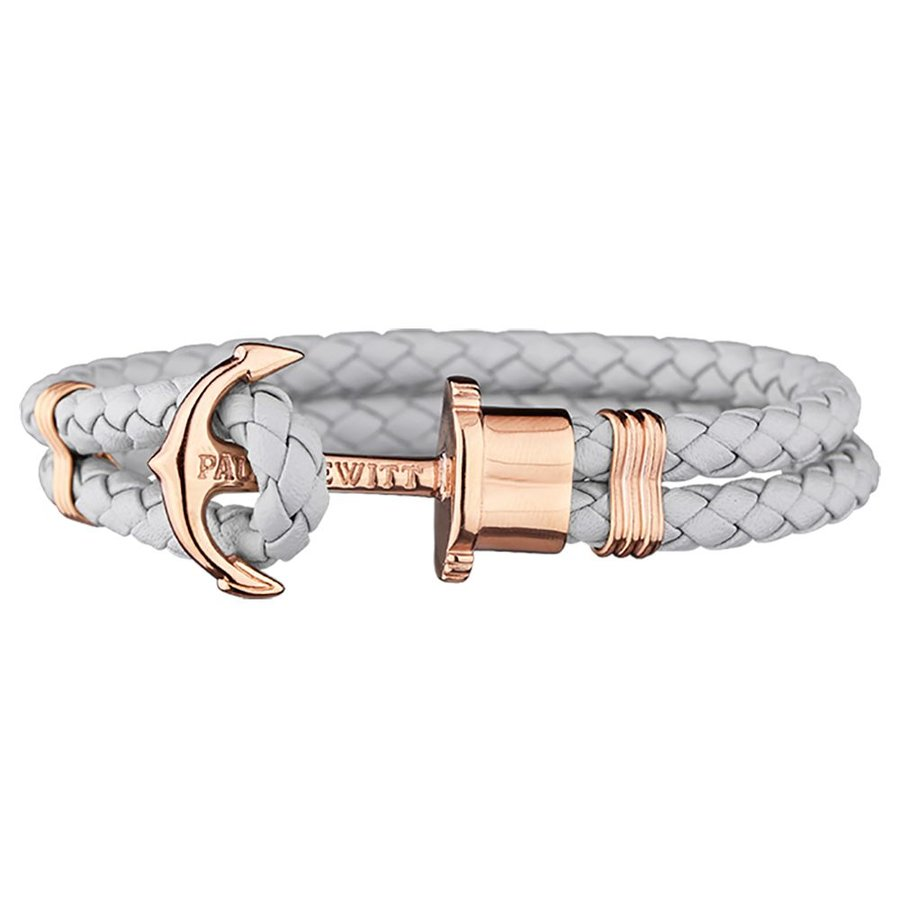Leather Bracelet Rose gold Gray PH-PH-L-R-GR
