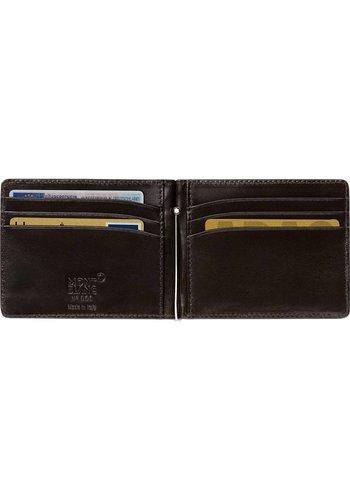 Montblanc Leather Meiserstuck Wallet Money Clip Mocha 112561