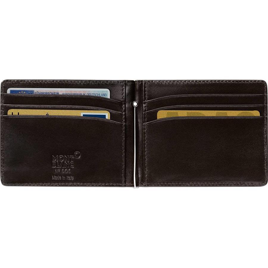 Leather Meiserstuck Wallet Money Clip Mocha 112561