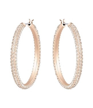 Swarovski Stone pierced earrings Hoop rose gold 5383938