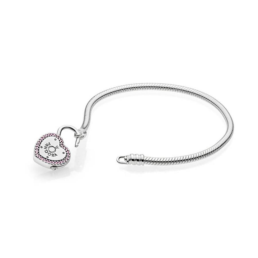 Smooth Silver bracelet, Lock Your Promise 596586FPC