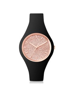 Ice Watch Ice Glitter - Black Rose gold - Small 001346