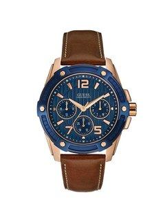 Guess Flagship Blue/Brown heren horloge W0600G3