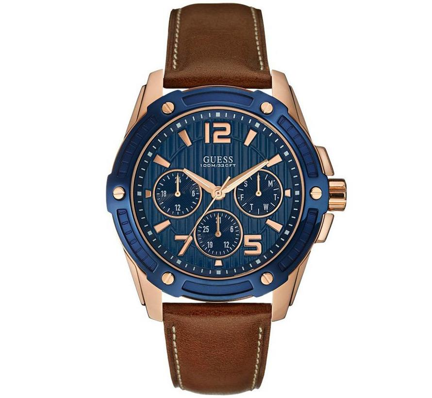 Flagship Blue/Brown heren horloge W0600G3