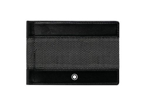 Montblanc Meisterstück Canvas Wallet 6cc with Money Clip 107350