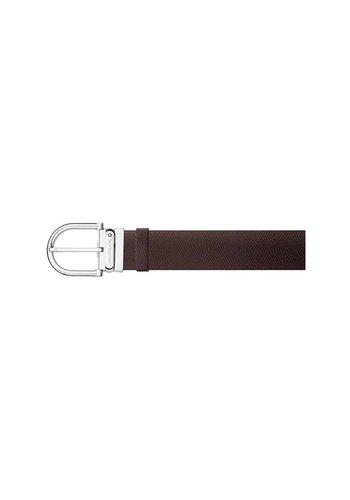 Montblanc Leather Belt horseshoe shiny dark brown 116719