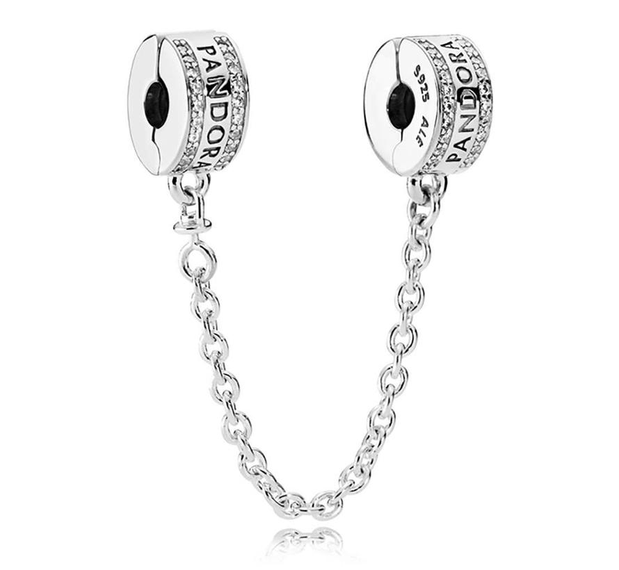 Pandora Logo Safety Chain 792057CZ