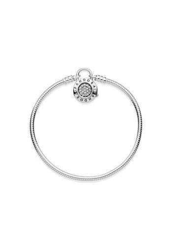 Pandora Smooth Silver Bracelet Pandora Signature Padlock