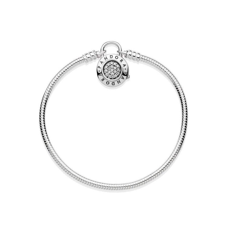 Smooth Silver Bracelet Pandora Signature Padlock
