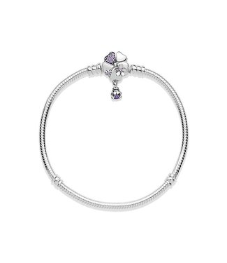 Pandora Moments Silver Bracelet Wildflower Meadow Clasp 597124NLC