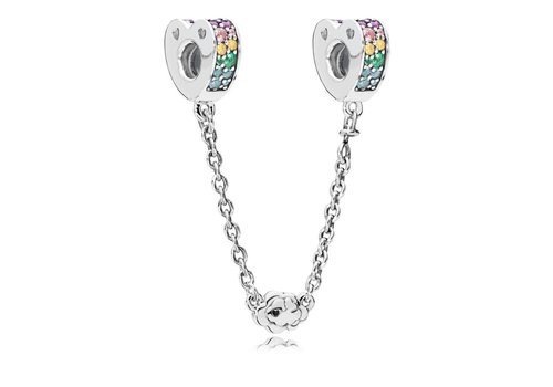Pandora Multi-Colour Arcs of Love Safety Chain 797021NRPMX