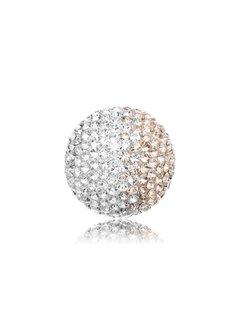 Engelsrufer Klankbol zilver-rosé glitter large ERS-16-ZI-L