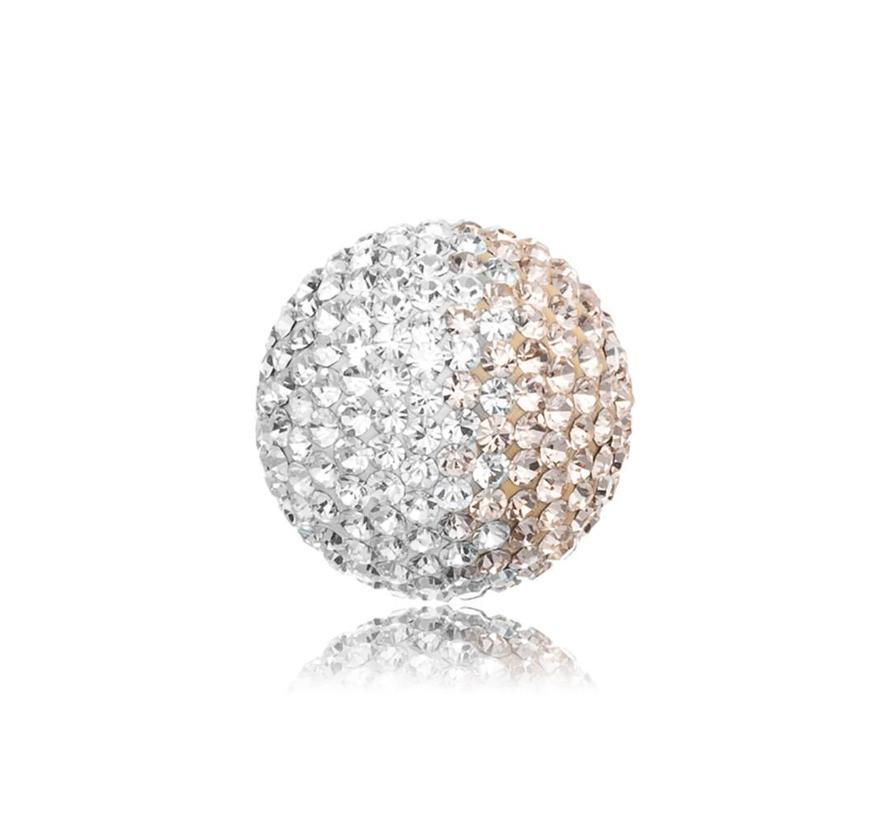 Klankbol zilver-rosé glitter large ERS-16-ZI-L