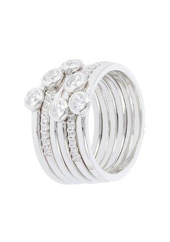 Milano 950 Navigli set of 6 stackable ring WSMI00018