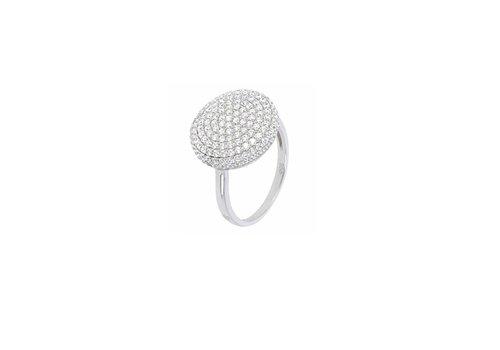Milano 950 Nuova Rounded Vault Pave ring WSMI00040