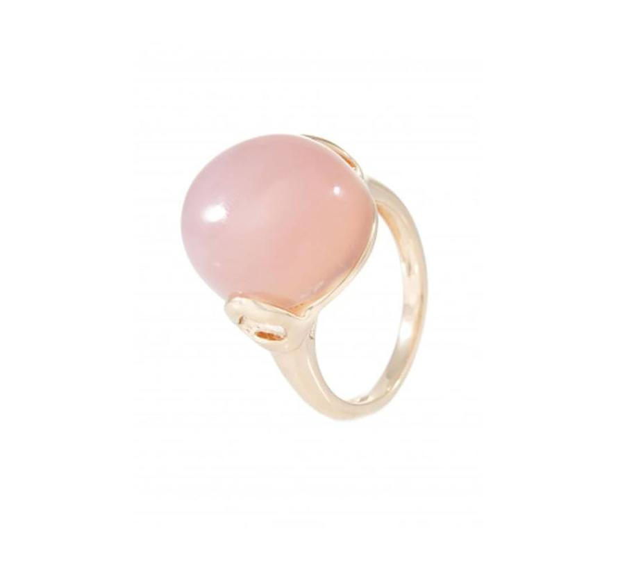ring with Rose Chalcedony WSBZ00364R