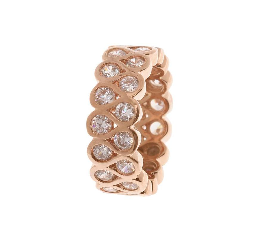 Fancy Double Row ring WSBZ00369W