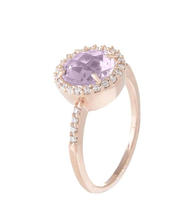 Bronzallure Preziosa Shiny Round Faceted Stone ring WSBZ00514AM