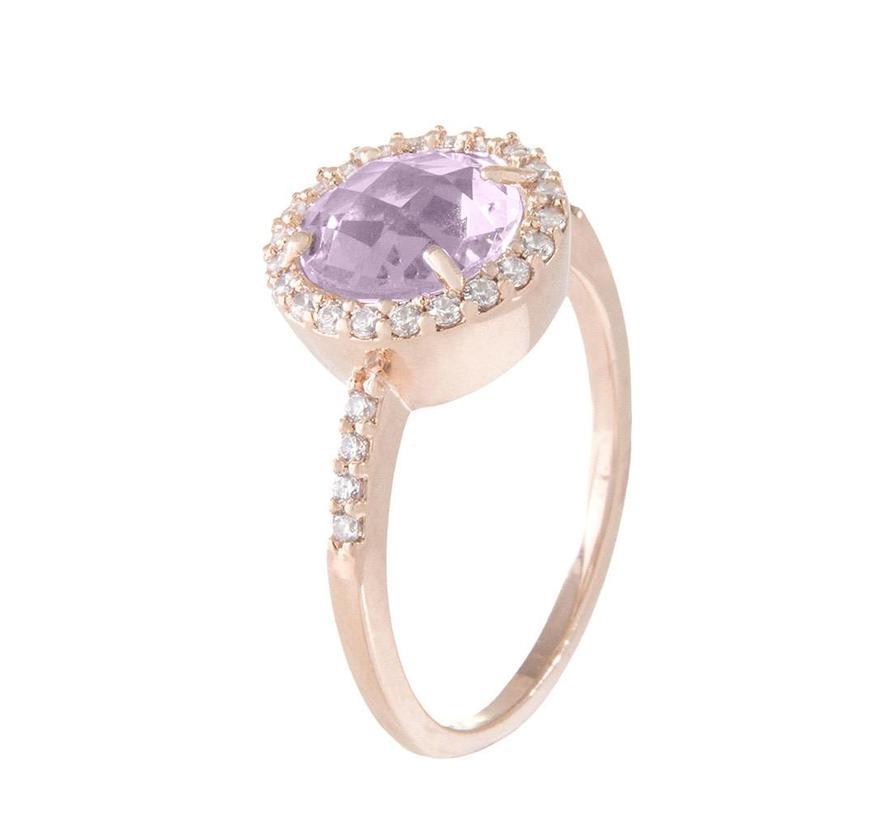 Preziosa Shiny Round Faceted Stone ring WSBZ00514AM