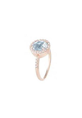 Bronzallure Preziosa Shiny Round Faceted ring WSBZ00514BL