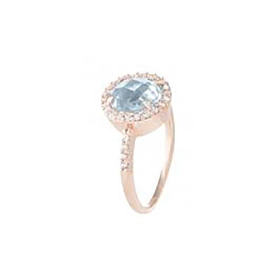 Preziosa Shiny Round Faceted ring WSBZ00514BL