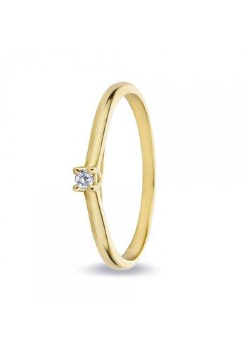 Miss Spring ring 18kt Solitair 0.03ct MSR529GG