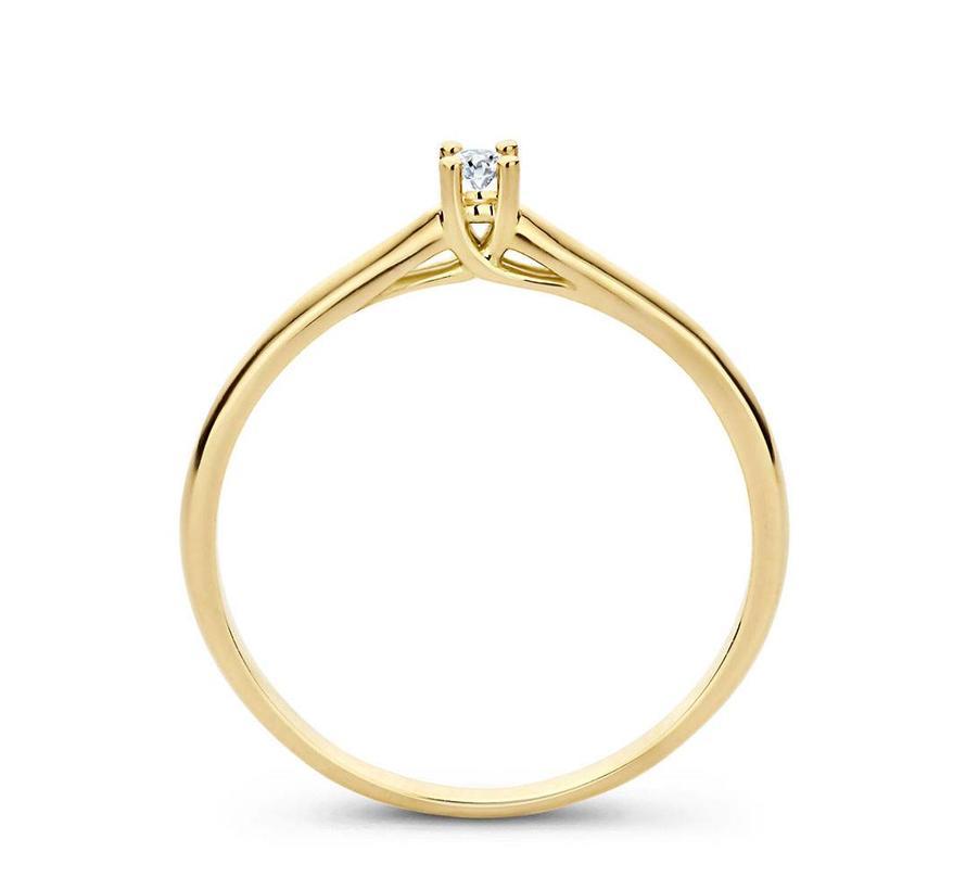 ring 18kt Solitair 0.03ct MSR529GG