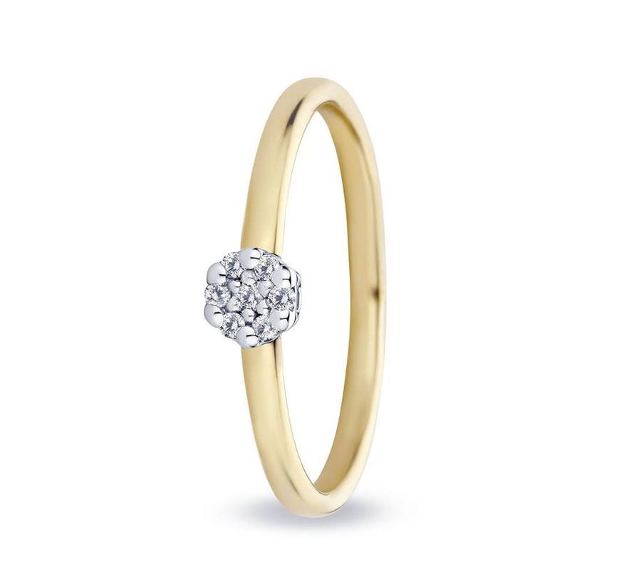 ring 18kt Isabel Entourage 0.07ct MSR542GG