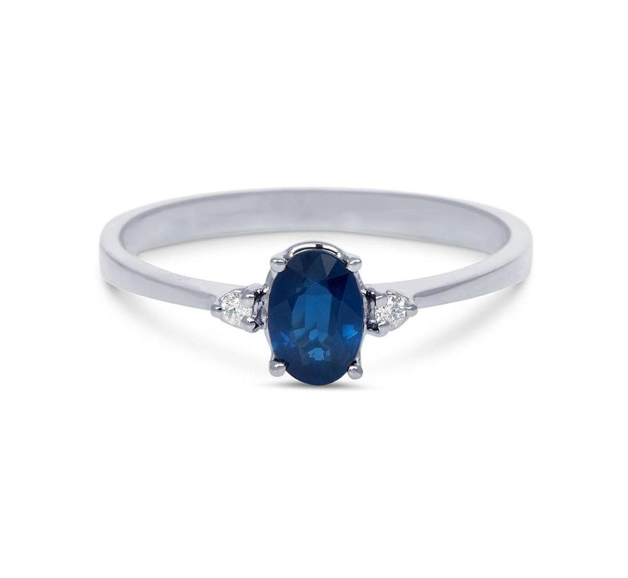 ring 18kt Helena Saffier 2 x 0.03ct MSR583WG-SA