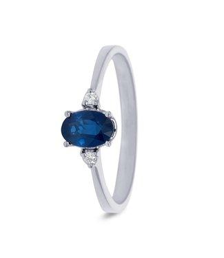 Miss Spring ring 18kt Helena Saffier 2 x 0.03ct MSR583WG-SA