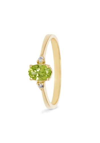 Miss Spring ring 18kt Helena Peridoot 2 x 0.03ct MSR583GG-PE
