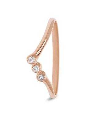 Miss Spring ring 18kt Nova 0.05ct MSR580RG