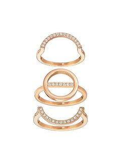 Swarovski Flash ring set rose