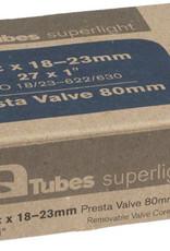 Q-TUBES Q Tubes Superlight Tube 700 x 18-23mm, 80mm Presta Valve
