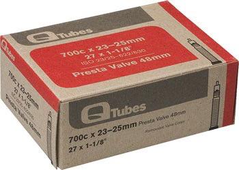 Q-TUBES Q Tubes 700 x 23-25mm, Presta 48mm Valve