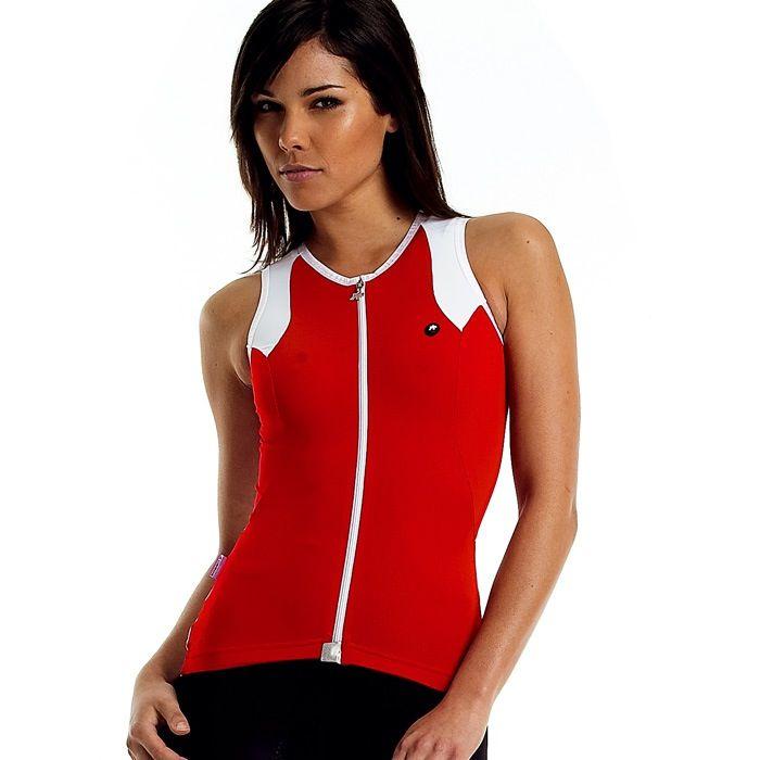 ASSOS Assos Women's Sleeveless Jersey N.S13, Red, Small