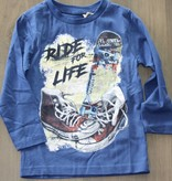 Knot so Bad  Longsleeve KSB skate blauw