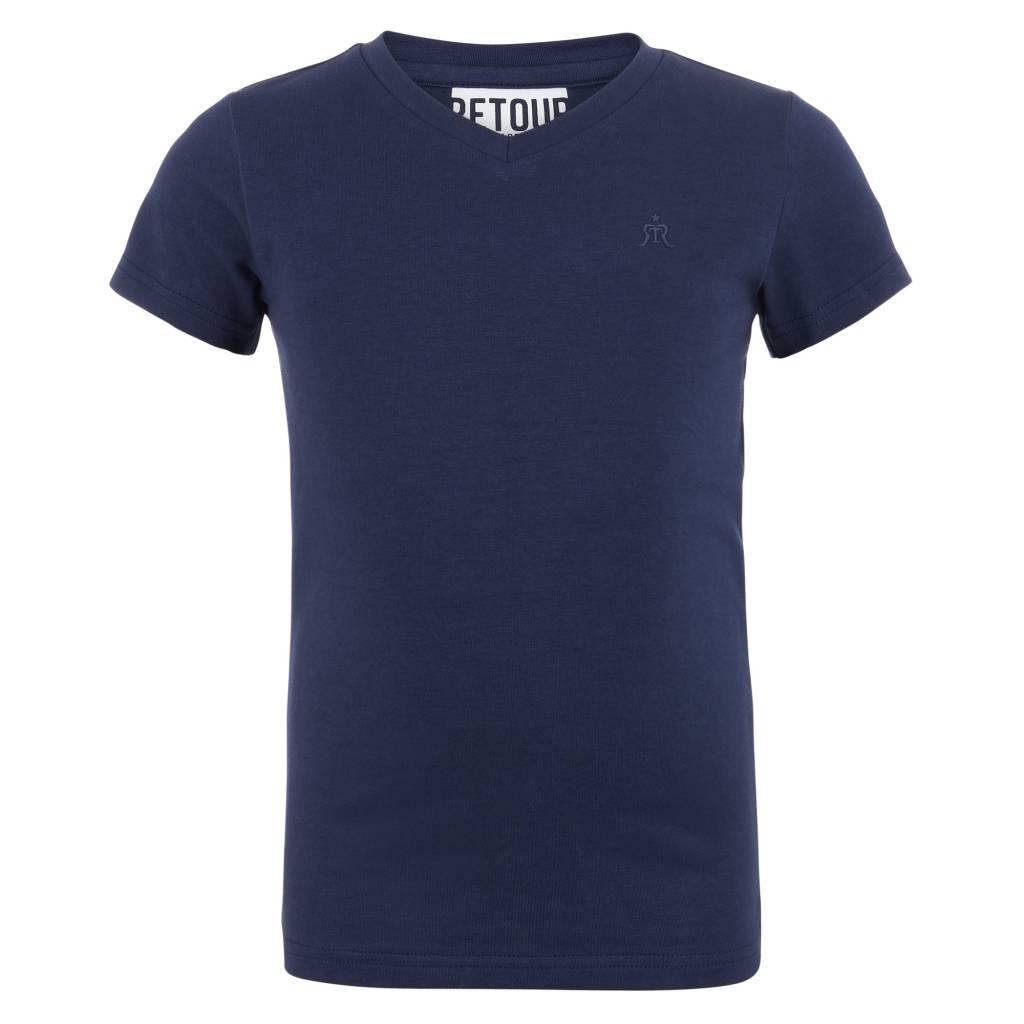 Retour Sean shirt donker blauw Retour