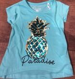 Knot so Bad  ananas strijk shirt blauw