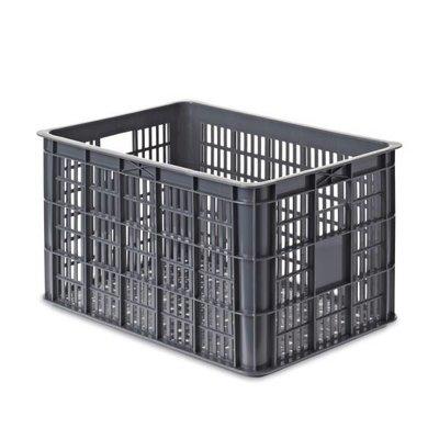 Basil Crate L - bicycle crate - 50L - grey
