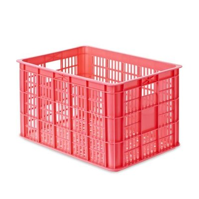 Basil Crate L - bicycle crate - 50L - pink