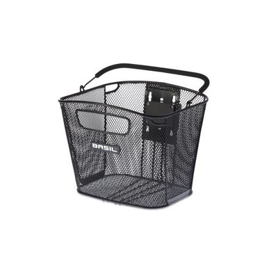 Basil Bold Front Removable - bicycle basket - 16L - front - black