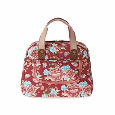 Basil Basil Bloom Kids Carry All - bicycle bag - 11L - red with flowers