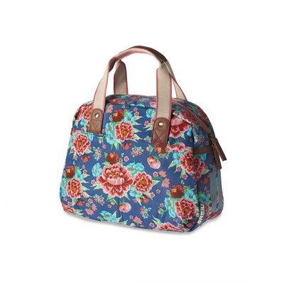 Basil Basil Bloom Kids Carry All - Fahrradtasche - 11L - Indigo blau mit Blumen